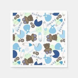 Blaues Babyparty-Muster Servietten