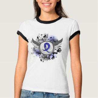 Blaues Band mit Flügeln CFS- T-Shirt