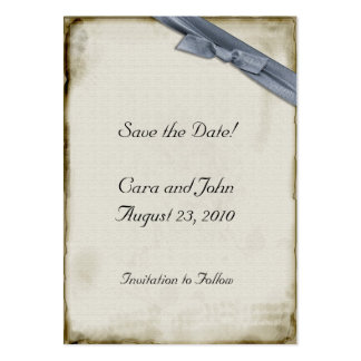 Blaues Band Save the Date Mini-Visitenkarten