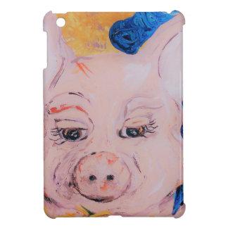 Blaues Band-Schwein iPad Mini Hülle