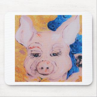Blaues Band-Schwein Mousepad