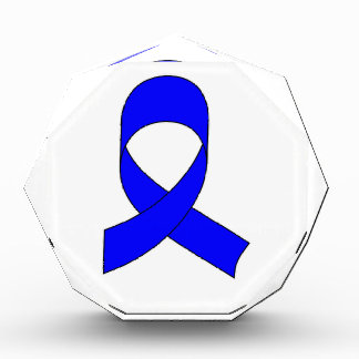 Blaues Band-Zeichnen Acryl Auszeichnung