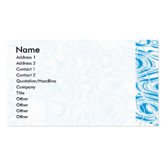 Blaues Bio abstraktes Visitenkarten