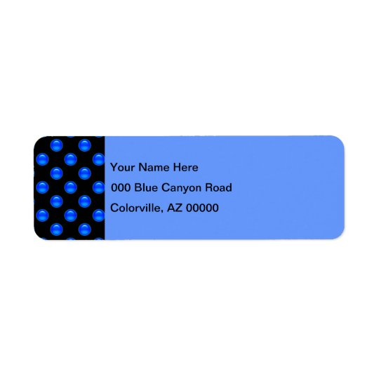 Blaues Blasen-Schwarzes 1 Rücksendeetiketten
