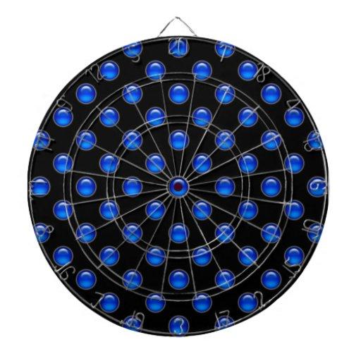 Blaues Blasen-Schwarzes Dartscheiben