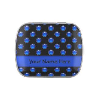 Blaues Blasen-Schwarzes Jelly Belly Dose