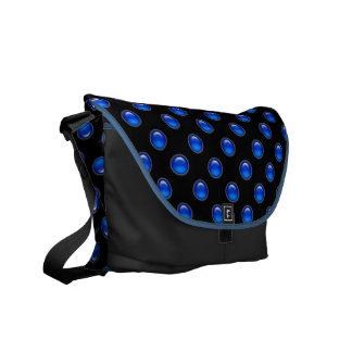 Blaues Blasen-Schwarzes Kurier Taschen