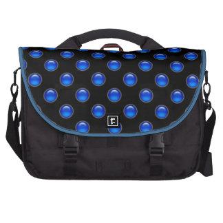 Blaues Blasen-Schwarzes Laptop Taschen