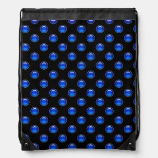 Blaues Blasen-Schwarzes Sportbeutel