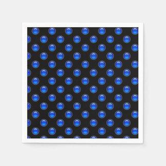 Blaues Blasen-Schwarzes Papierserviette