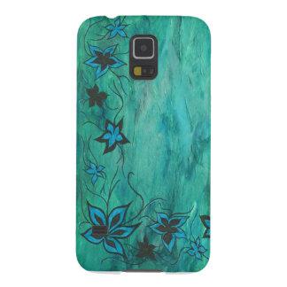 Blaues Blumen auf Blaubelag Samsung Galaxy S5 Hülle