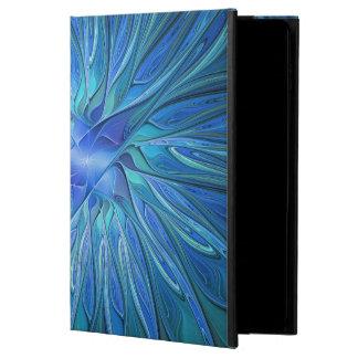 Blaues Blumen-Fantasie-Muster, abstrakte