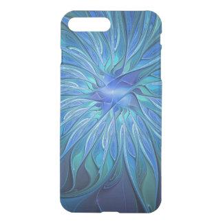 Blaues Blumen-Fantasie-Muster, abstrakte iPhone 8 Plus/7 Plus Hülle