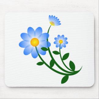 Blaues Blumen mousepad
