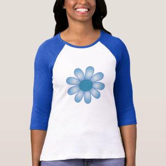 Blaues Blumen-Shirt T-Shirt