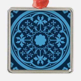 Blaues Blumenmuster Ornamente