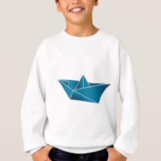 Blaues Boot Origami Sweatshirt