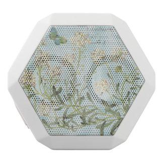 Blaues botanisches weiße bluetooth lautsprecher
