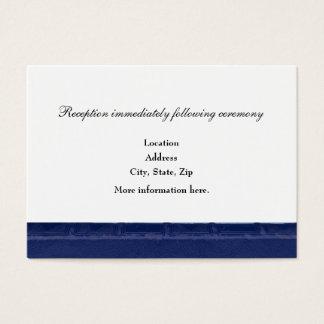 Blaues Buch-Empfangs-Einschließungs-Karten Visitenkarte