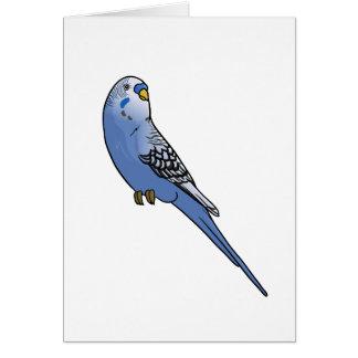 Blaues Budgie Karte