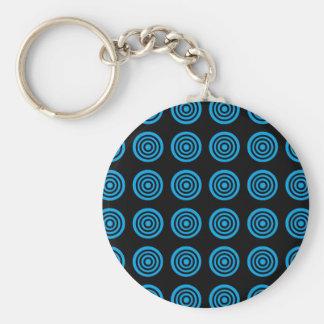 Blaues Bullaugen-Schwarzes Schlüsselanhänger
