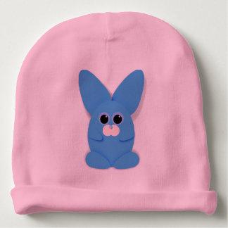 Blaues Bunn auf rosa Baby-Hut Babymütze