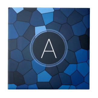 Blaues Buntglas-Mosaik Fliese