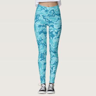 Blaues Camouflage-Tarnungs-Muster Leggings