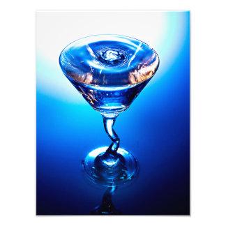 Blaues Cocktail Photographischer Druck