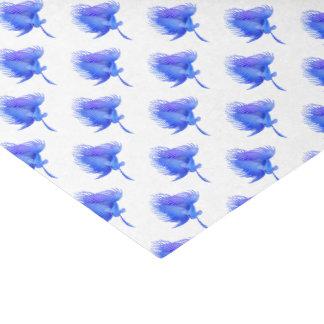 Blaues Crowntail Betta Seidenpapier