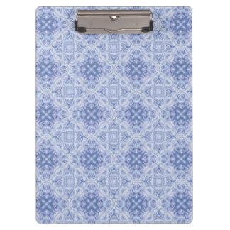 Blaues Damast-Entwurfs-Klemmbrett