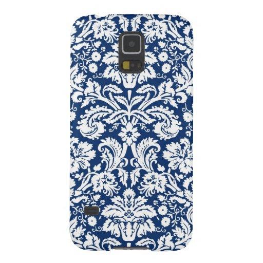 Blaues Damast-Muster Samsungs Samsung Galaxy S5 Hülle