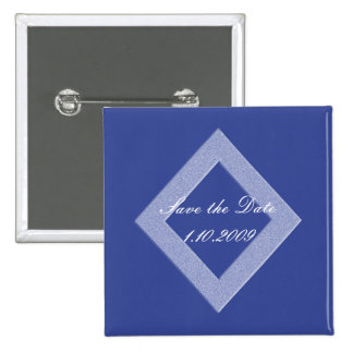 Blaues Diamant-Save the Date Button