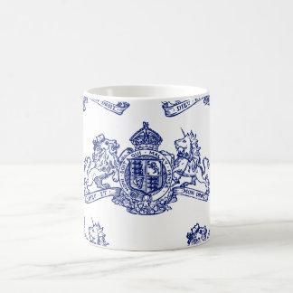 Blaues Dieu und Montagdroit-britisches Wappen Kaffeetasse