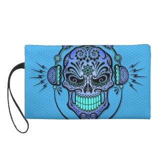 Blaues DJ zuckern Schädel