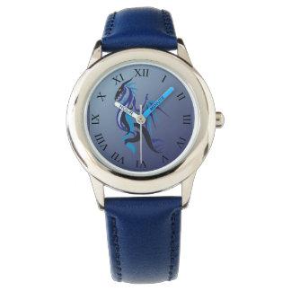 Blaues Drache-Feuer Armbanduhr