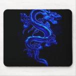 Blaues Drache-Spiel Mousepad
