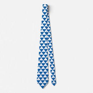 Blaues Dreieck-Muster Personalisierte Krawatte