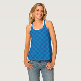 Blaues Dreieck-Muster Tanktop