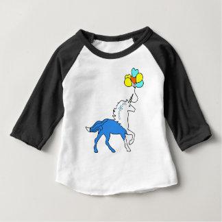 Blaues Einhorn Baby T-shirt