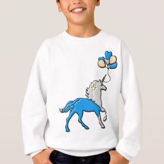 Blaues Einhorn Sweatshirt