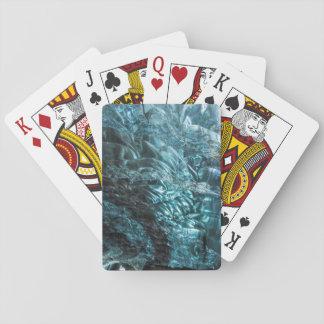 Blaues Eis einer Eishöhle, Island Spielkarten