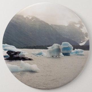 Blaues Eis Runder Button 15,3 Cm