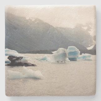 Blaues Eis Steinuntersetzer