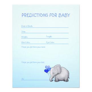 Blaues Elefant-Baby-Duschen-Vorhersage-Spiel Flyer