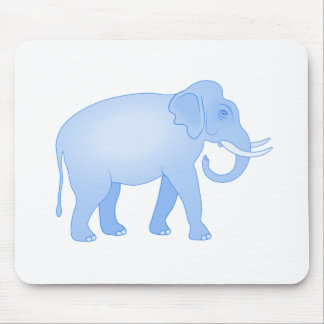 Blaues Elefant-Baby Mauspads