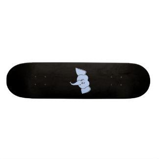 Blaues Elefant-Gesicht. Cartoon Skateboarddecks
