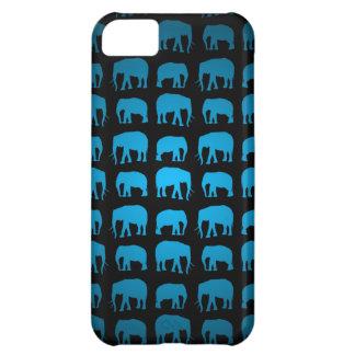 Blaues Elefant-Muster iPhone 5C Hülle