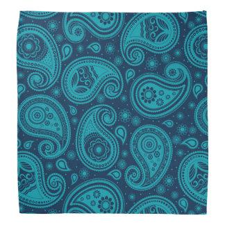 Blaues elegantes Paisley-Musters Halstuch