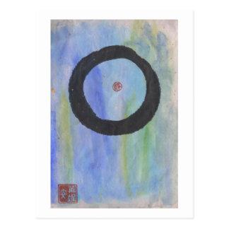 Blaues Enso (Zen-Kreis) der Ruhe-Postkarte Postkarten